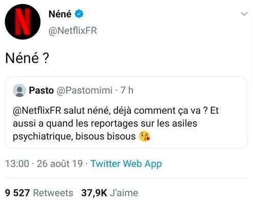 Netflix France, Twitter, community manager, drôle, humour, communication