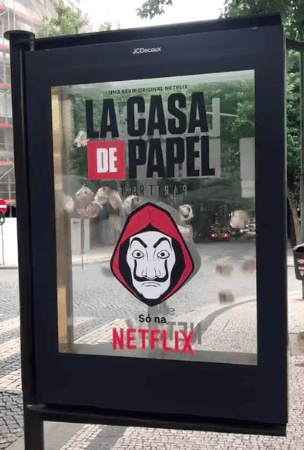 La Casa de Papel, Street marketing, Netflix, communication,