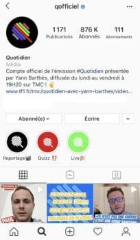 Page Instagram Quotidien